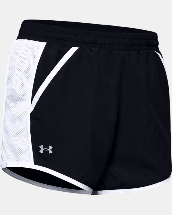 Women's UA Fly-By Shorts, Black, pdpMainDesktop image number 6