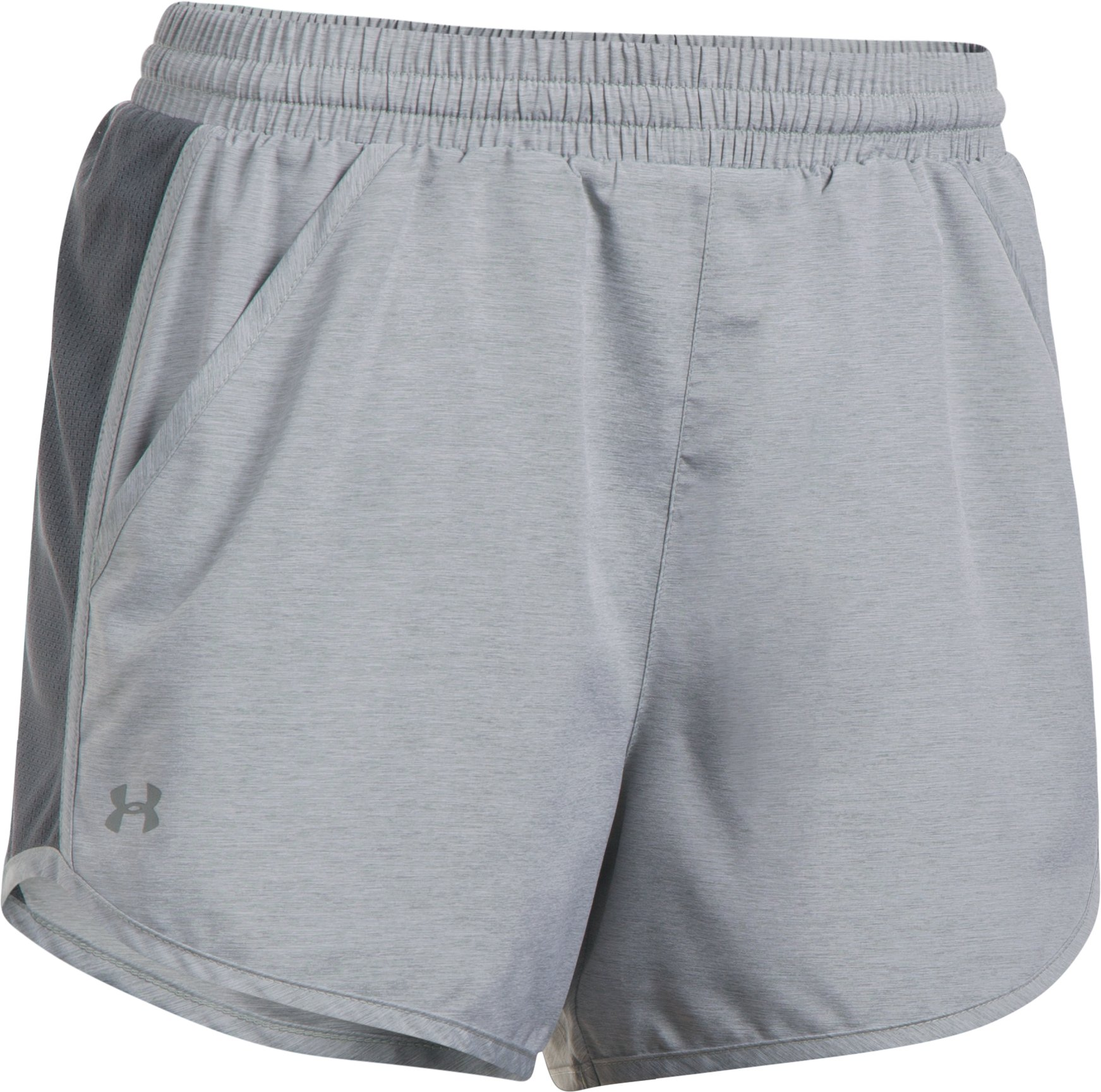 Women's UA Fly-By Shorts, True Gray Heather, undefined