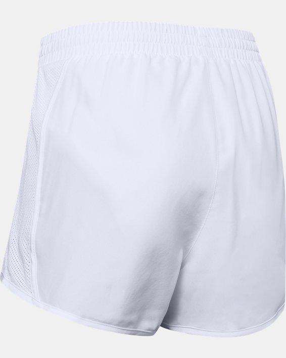 Women's UA Fly-By Shorts, White, pdpMainDesktop image number 7