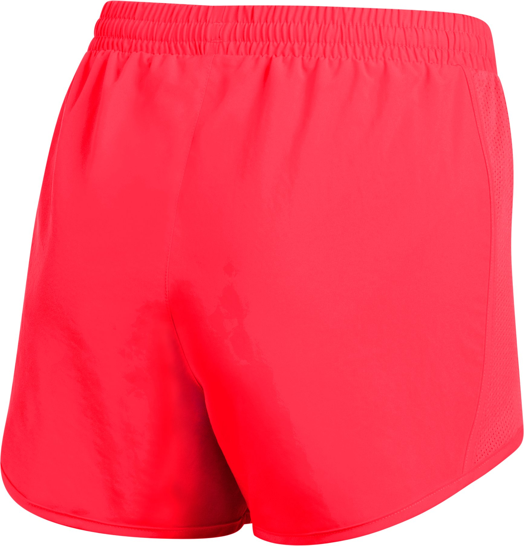 Women's UA Fly-By Shorts, MARATHON RED