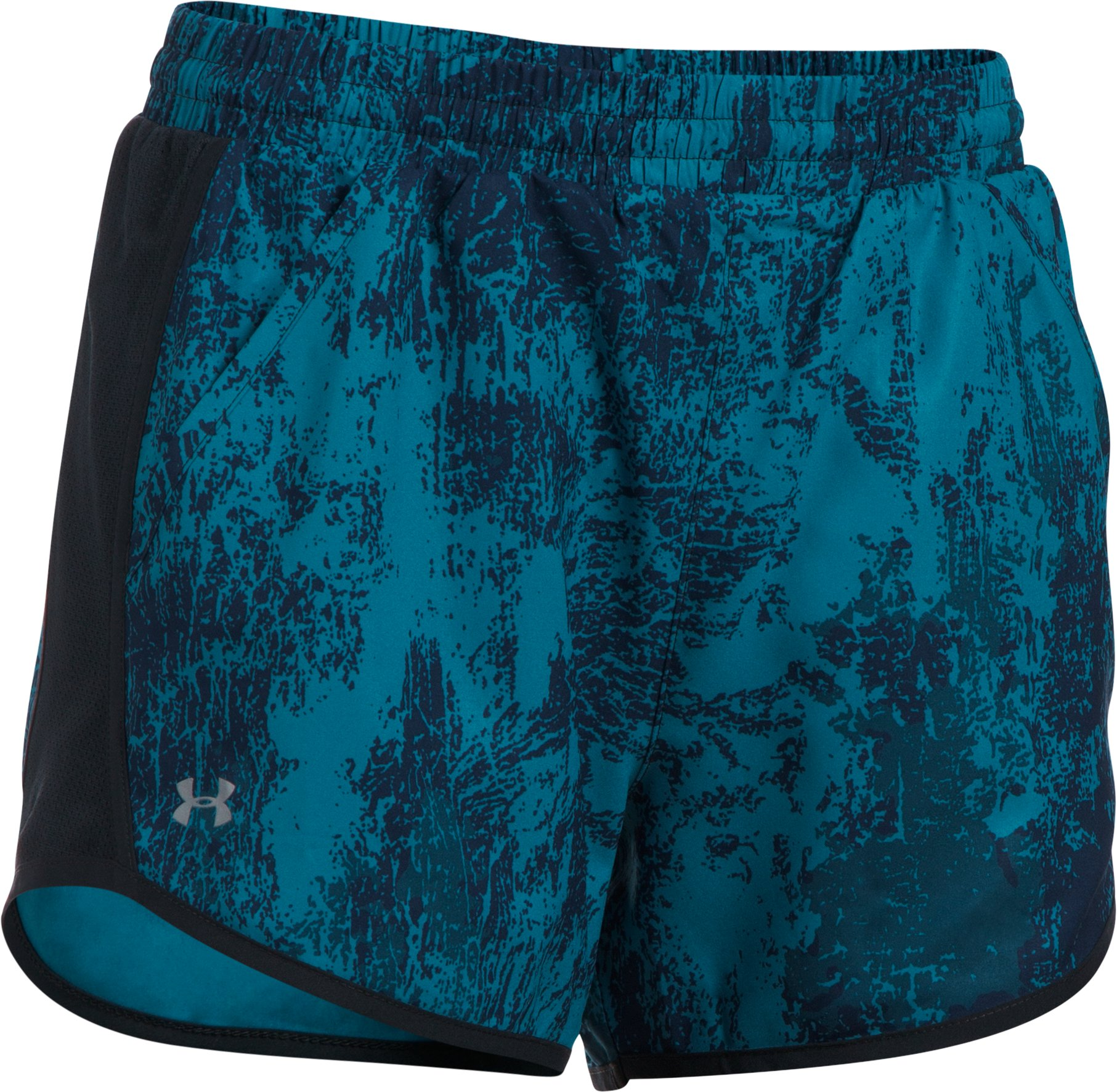 Women's UA Fly-By Printed Shorts, Black