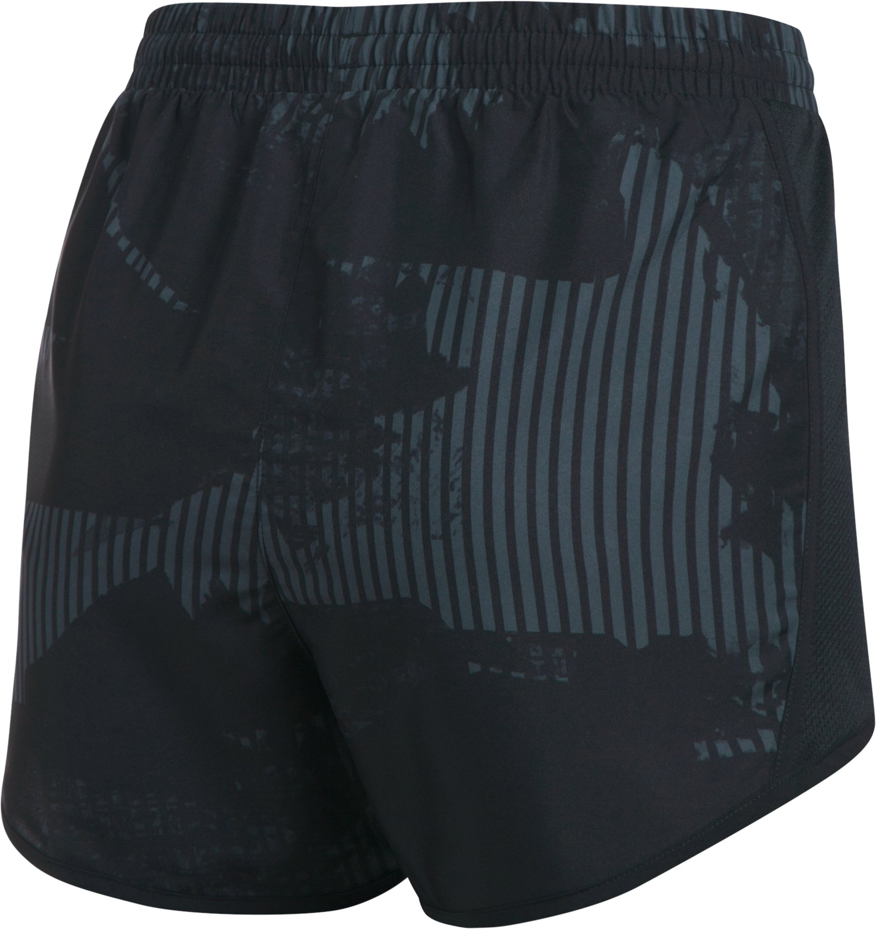 Women's UA Fly-By Printed Shorts, STEALTH GRAY
