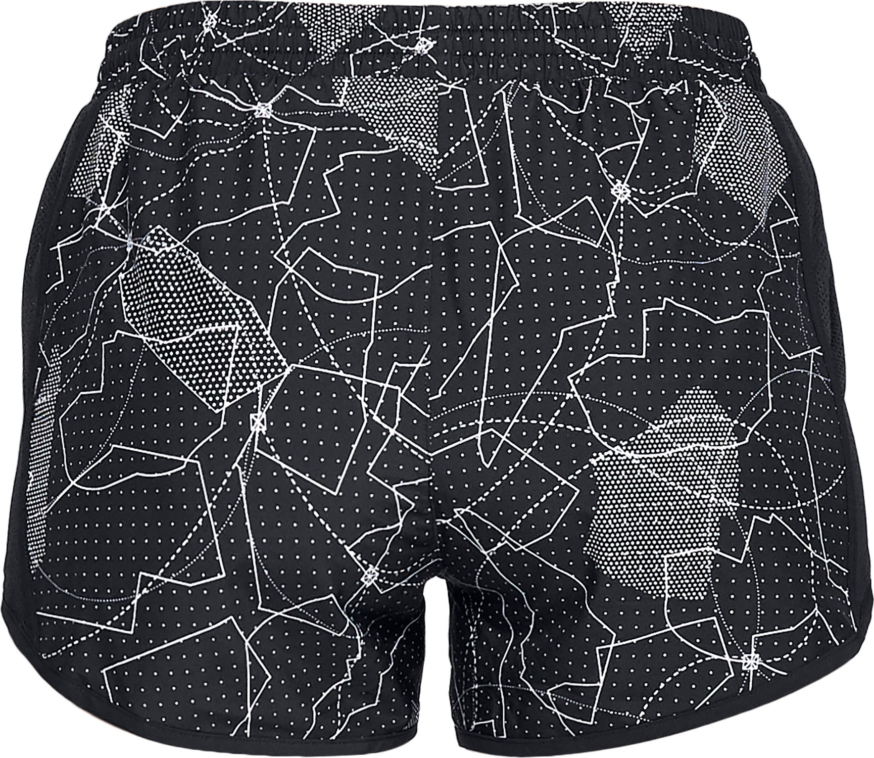 Women's UA Fly-By Printed Shorts, Black ,