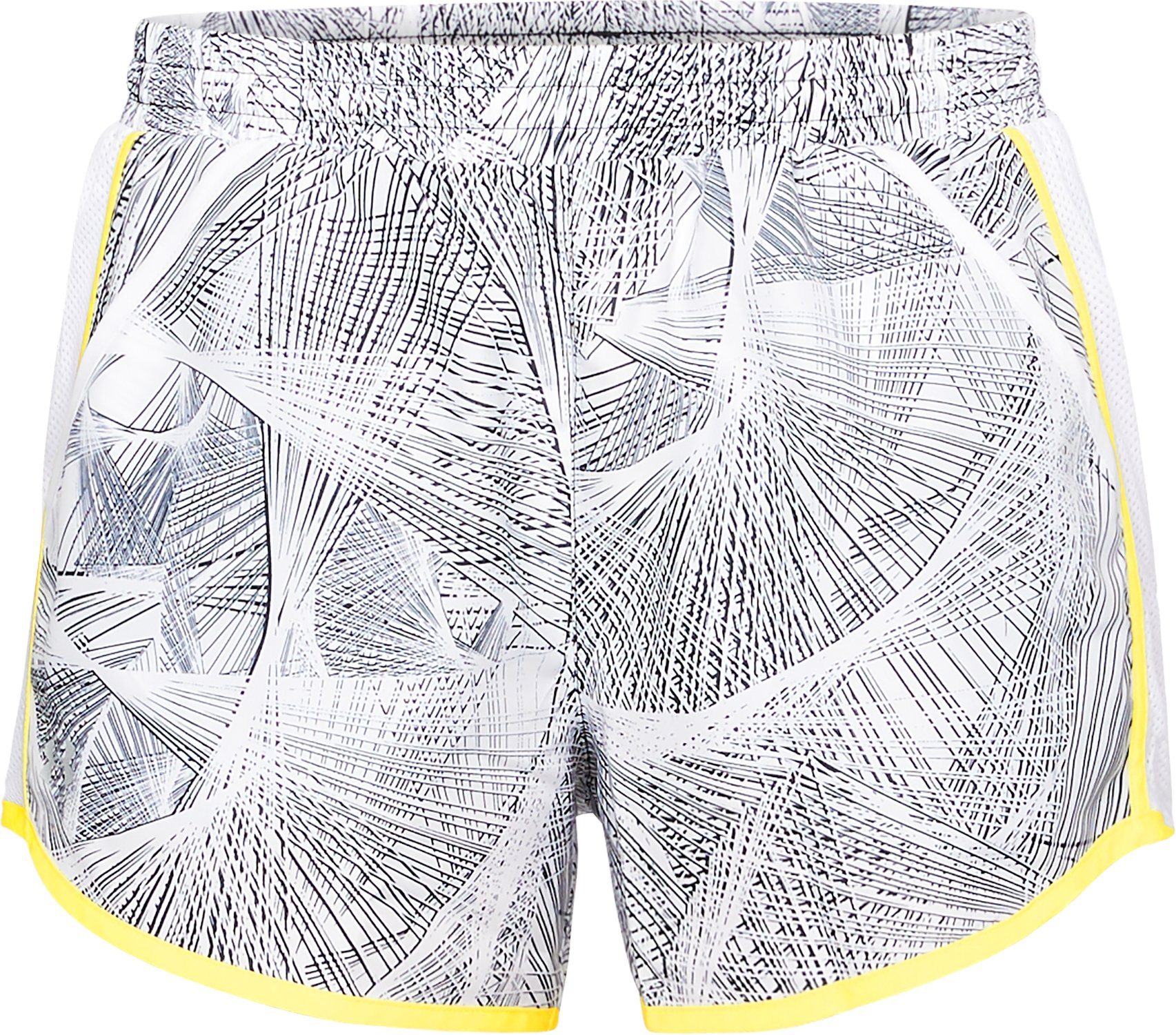 Women's UA Fly-By Printed Shorts, White, undefined