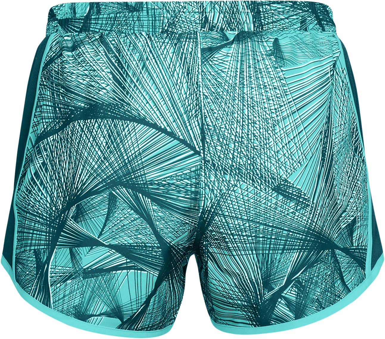Women's UA Fly-By Printed Shorts, TROPICAL TIDE, undefined