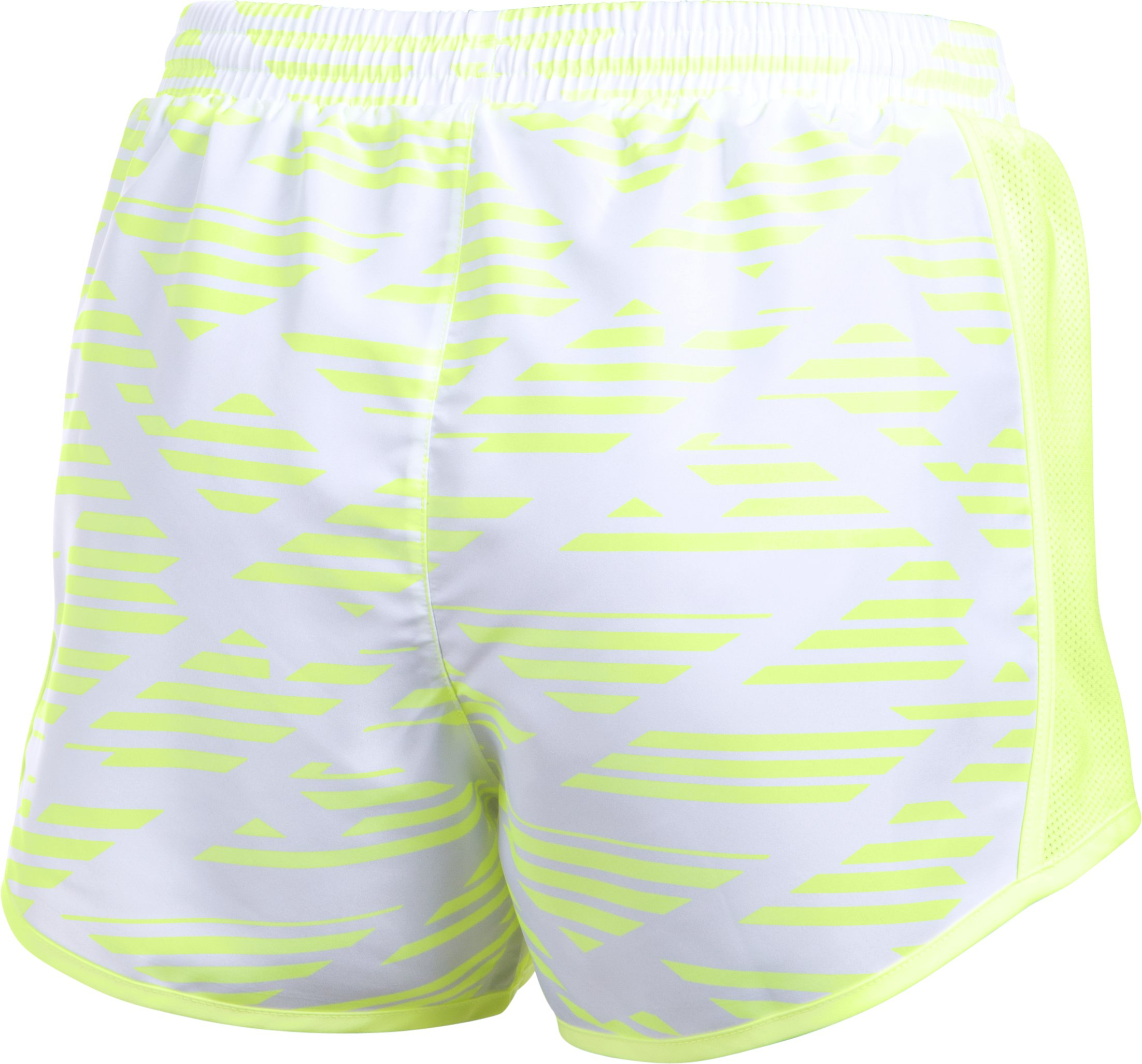 Women's UA Fly-By Printed Shorts, PALE MOONLIGHT, undefined
