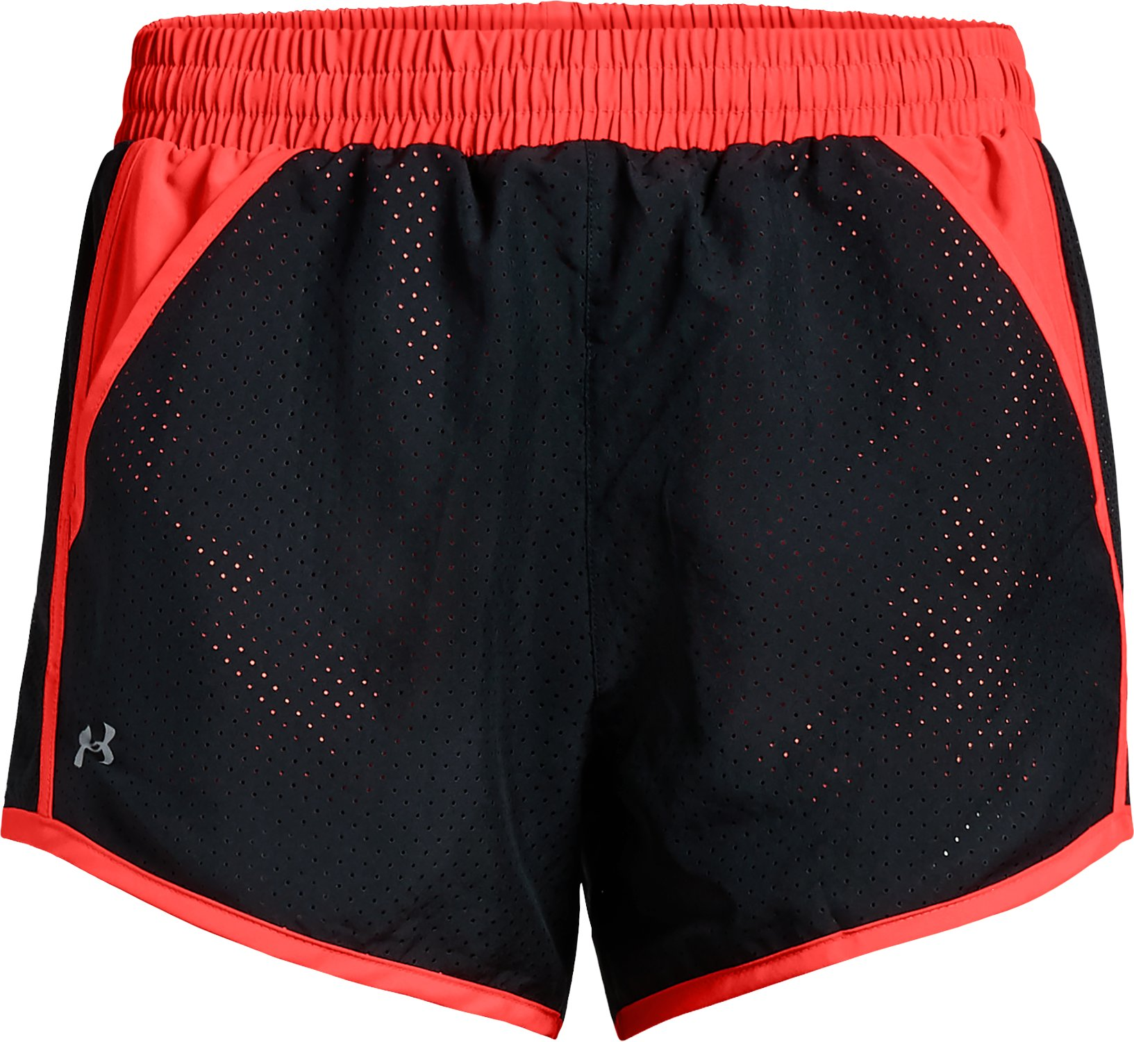 Women's UA Fly-By Perforated Shorts, Black ,