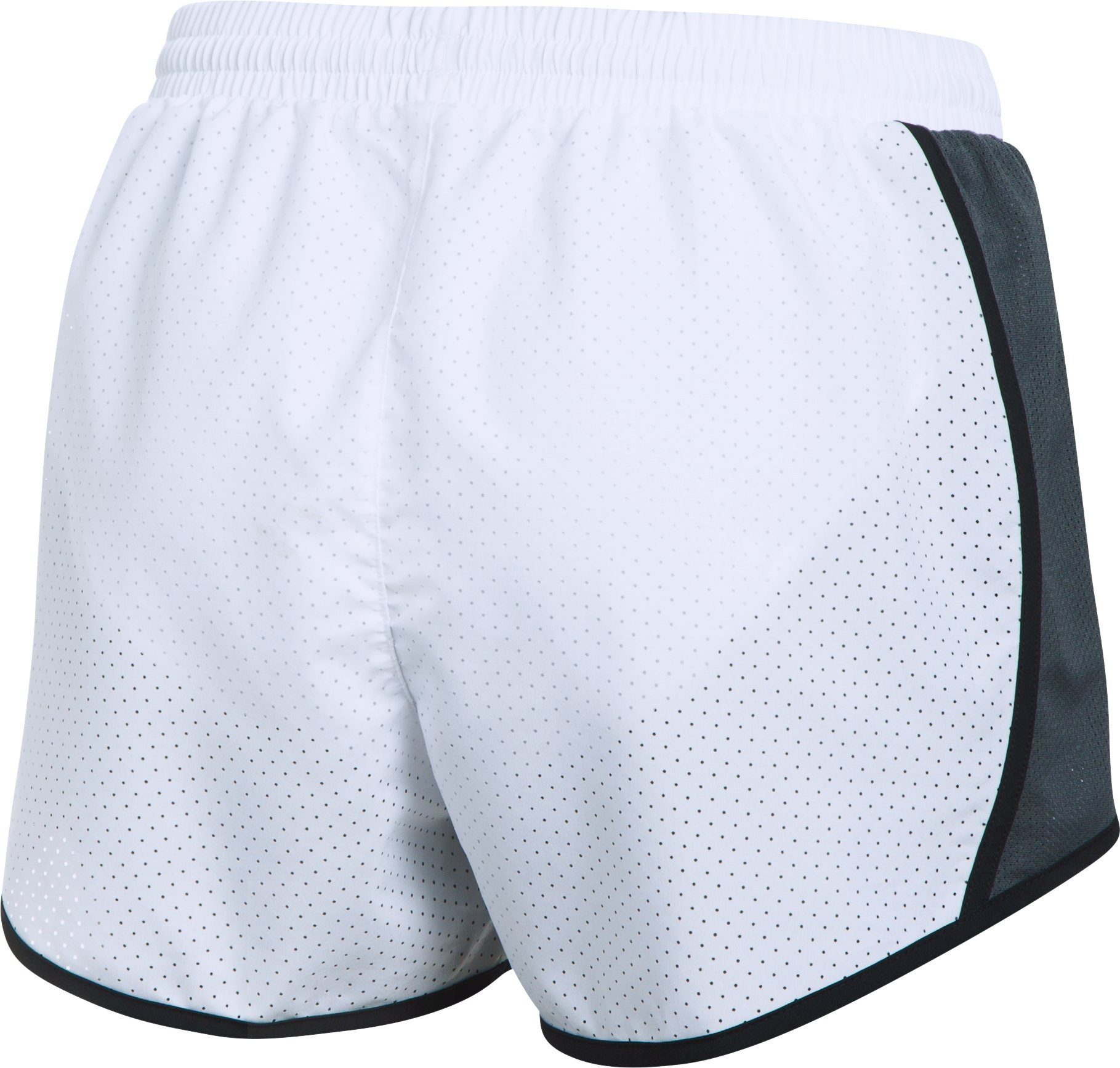 Women's UA Fly-By Perforated Shorts, White, undefined