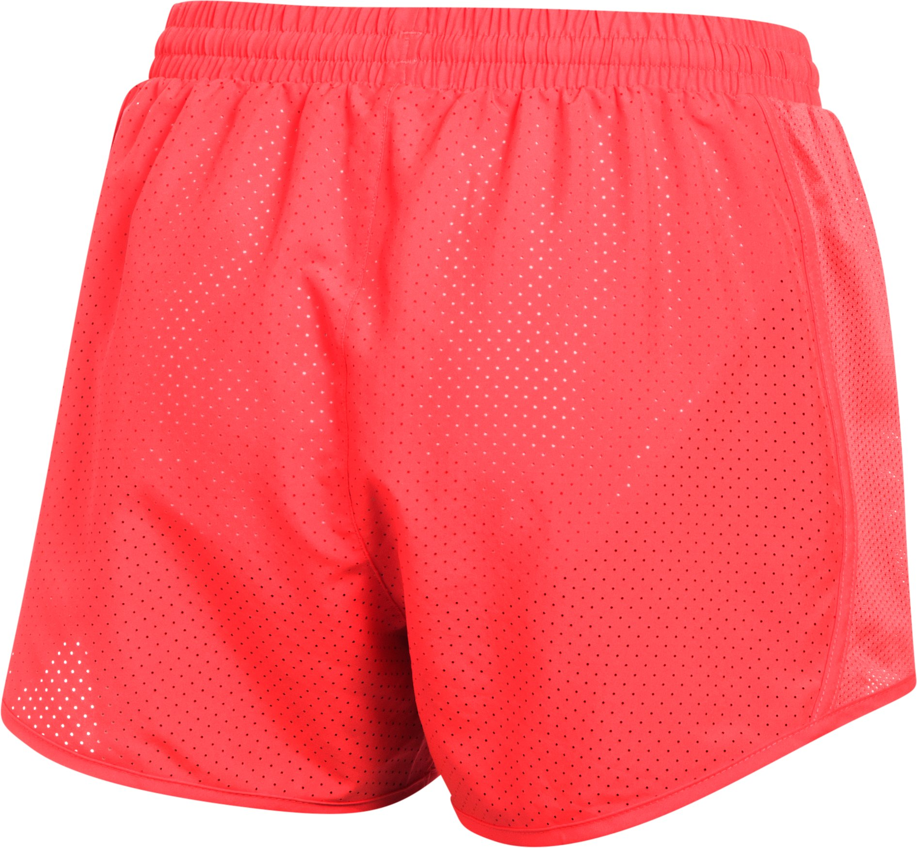 Women's UA Fly-By Perforated Shorts, MARATHON RED, undefined