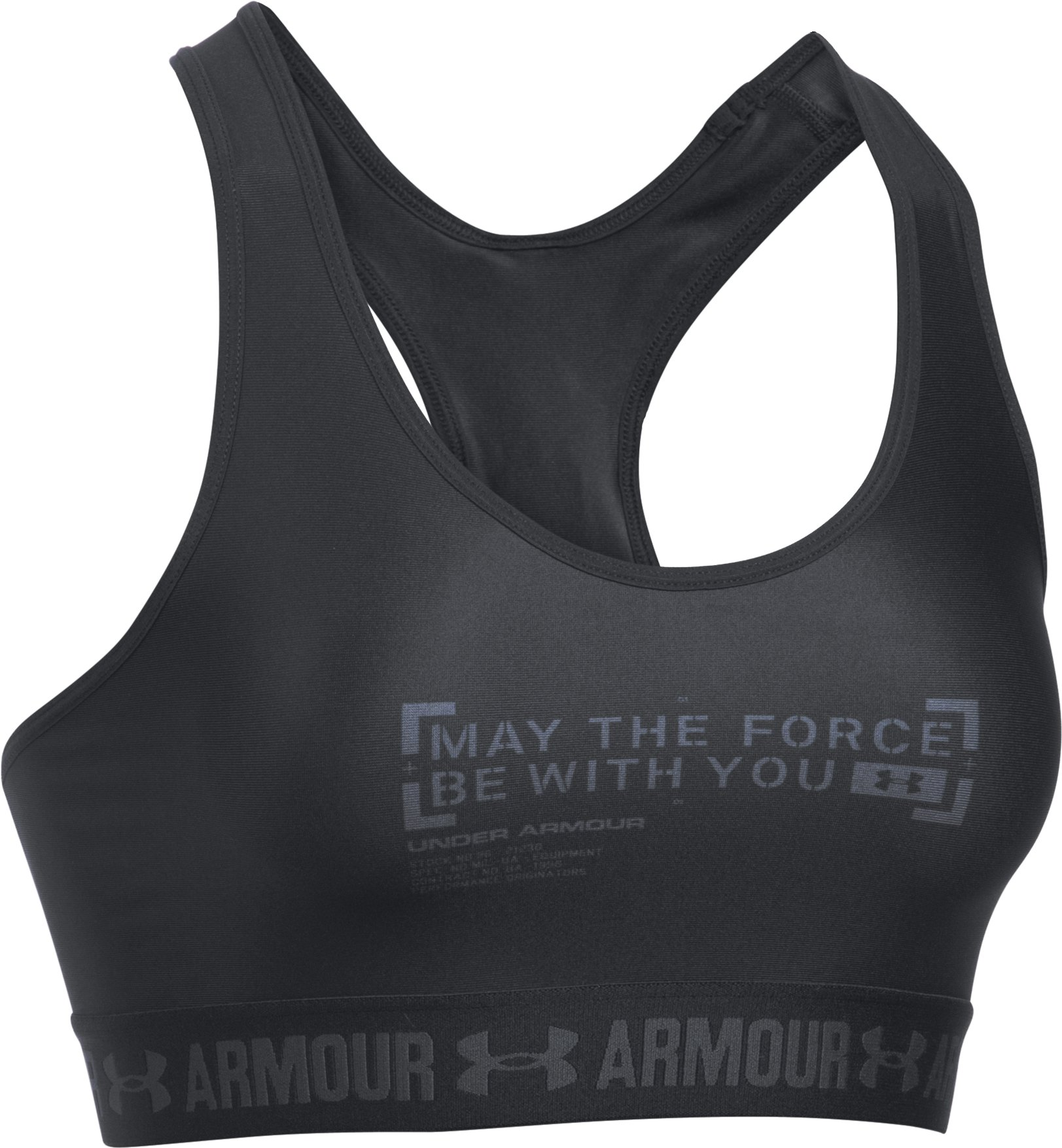 Women's Star Wars Force Be With You Sports Bra, Black , undefined