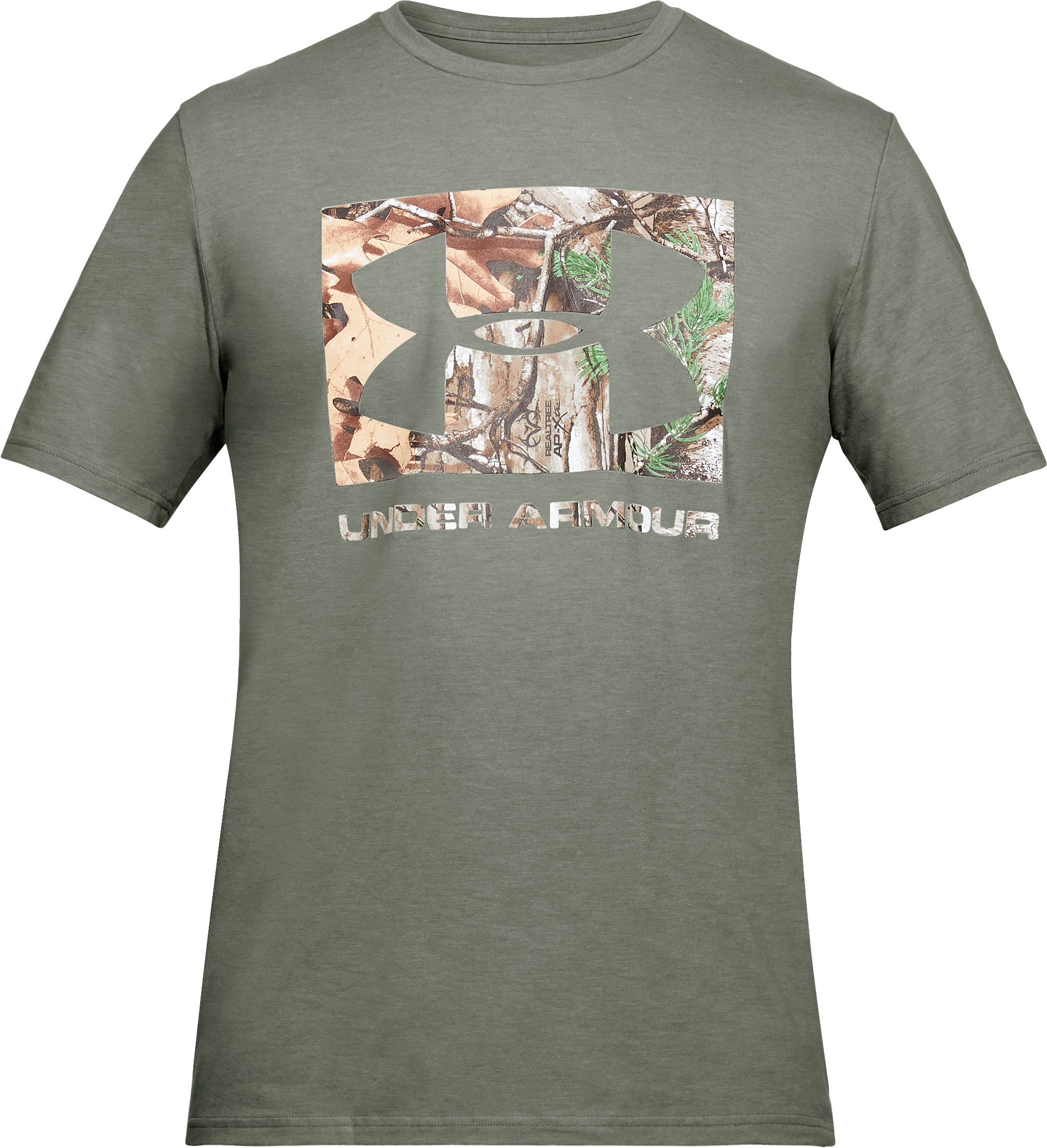 Men's UA Camo Knockout Logo T-Shirt, GROVE GREEN,