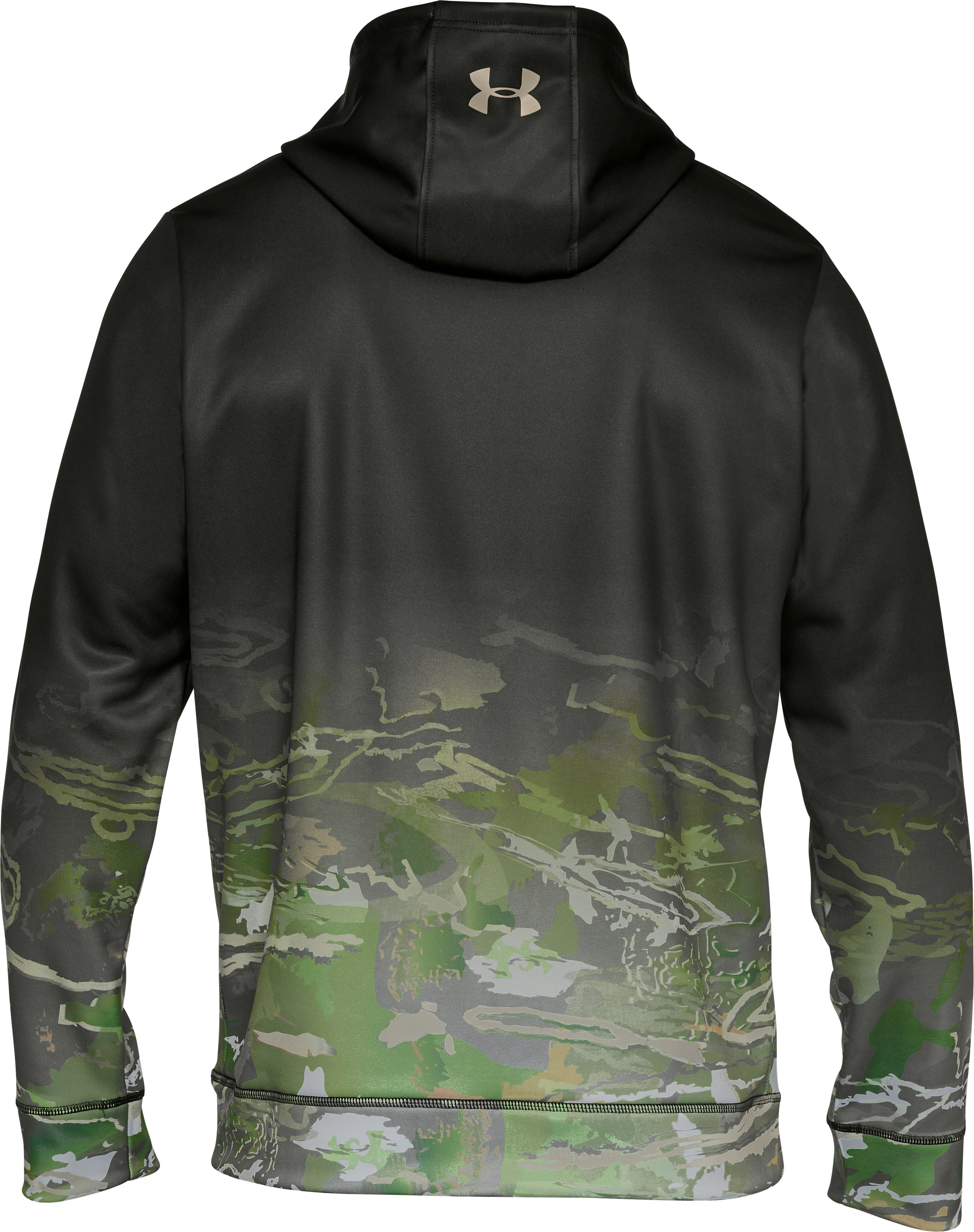 Men's UA Storm Caliber Faded Hoodie, Artillery Green, undefined