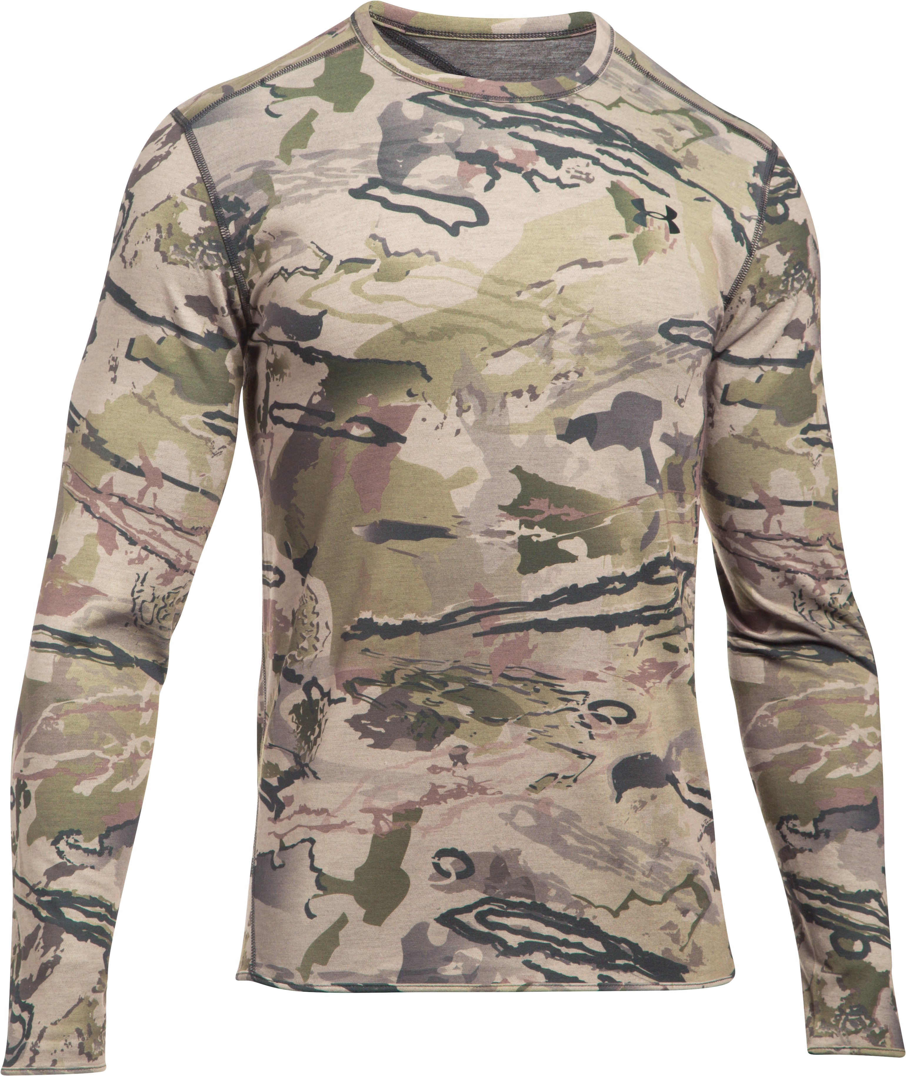 Men's UA Mid Season Reversible Wool Base Crew, RIDGE REAPER® BARREN