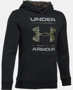 Boys' UA Camo Fill Logo Hoodie LIMITED TIME OFFER 4 Colors $34.99