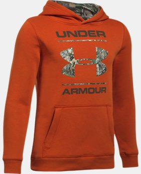 New Arrival Boys' UA Camo Fill Logo Hoodie  1 Color $49.99