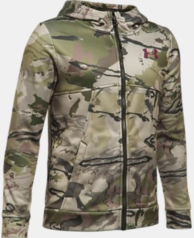 Boys' UA Storm Camo Full Zip Hoodie LIMITED TIME OFFER 3 Colors $48.74