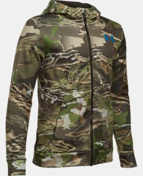 Boys' UA Storm Camo Full Zip Hoodie LIMITED TIME OFFER 2 Colors $56.24