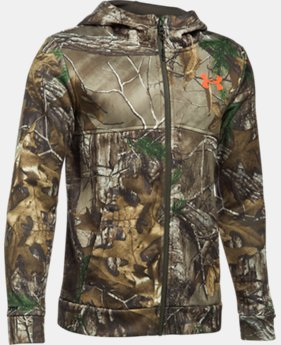 Boys' UA Storm Camo Full Zip Hoodie LIMITED TIME OFFER 1 Color $56.24