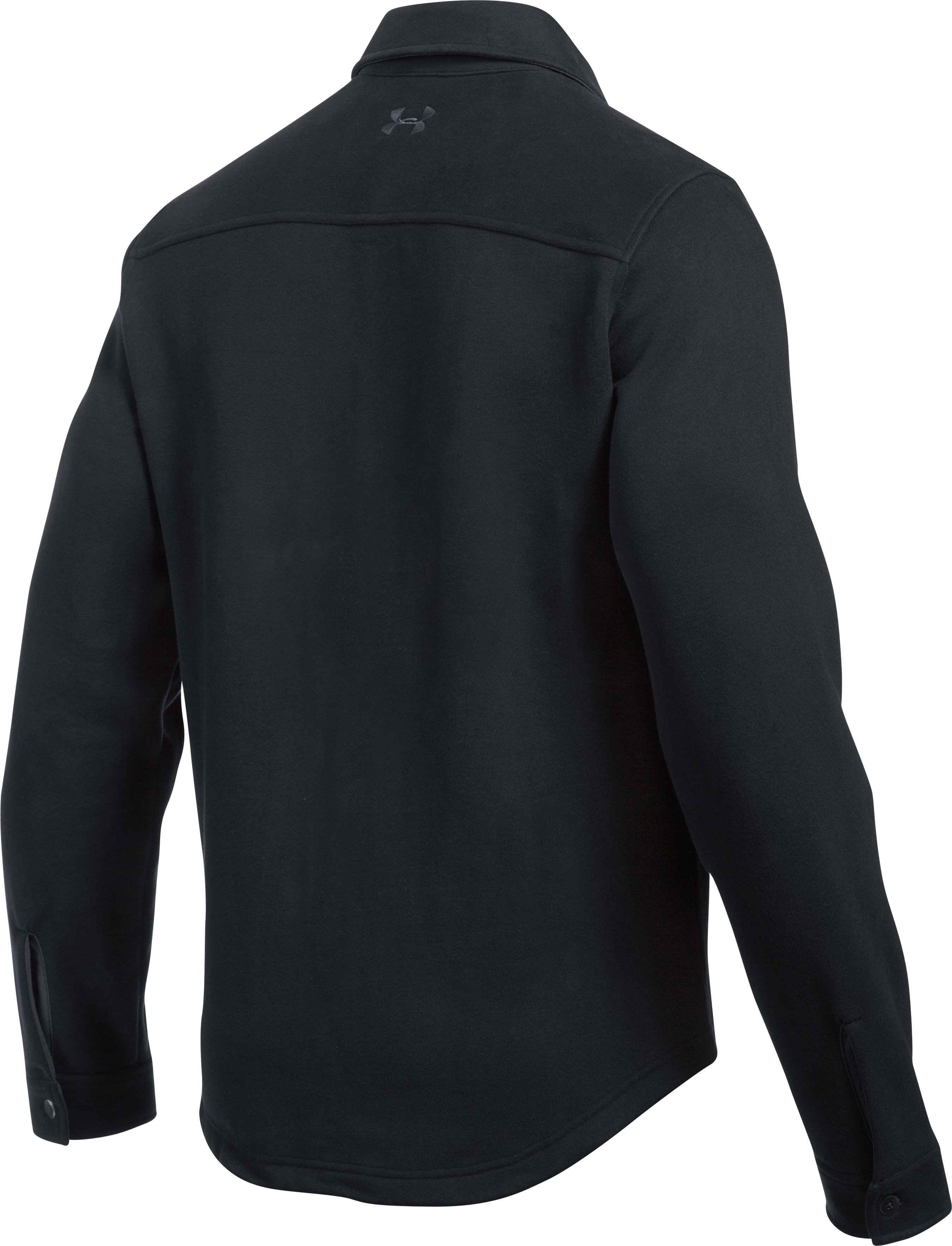Men's UA Buckshot Fleece Shirt, Black ,
