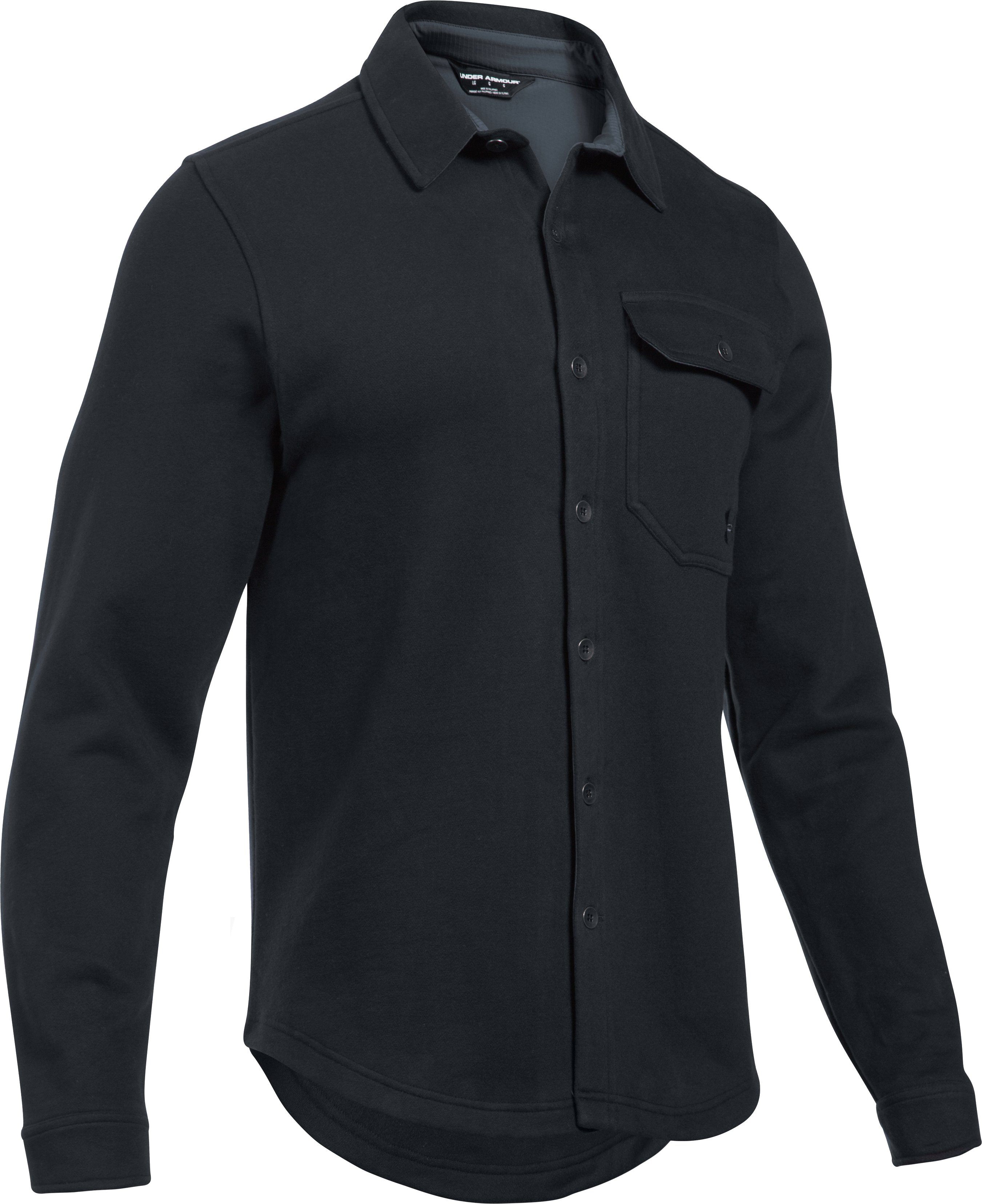 Men's UA Buckshot Fleece Shirt, Black , undefined