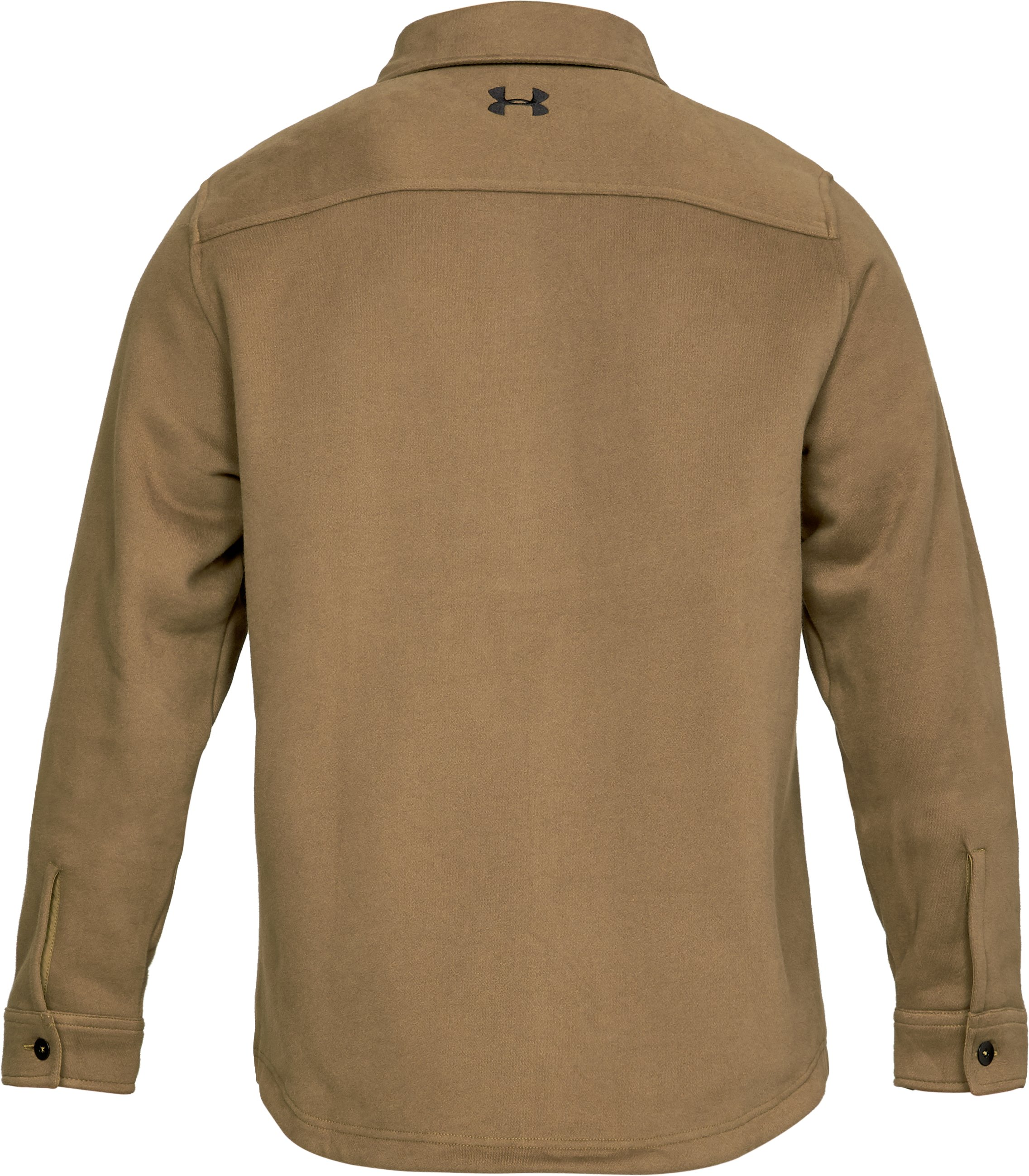 Men's UA Buckshot Fleece Shirt, Coyote Brown,