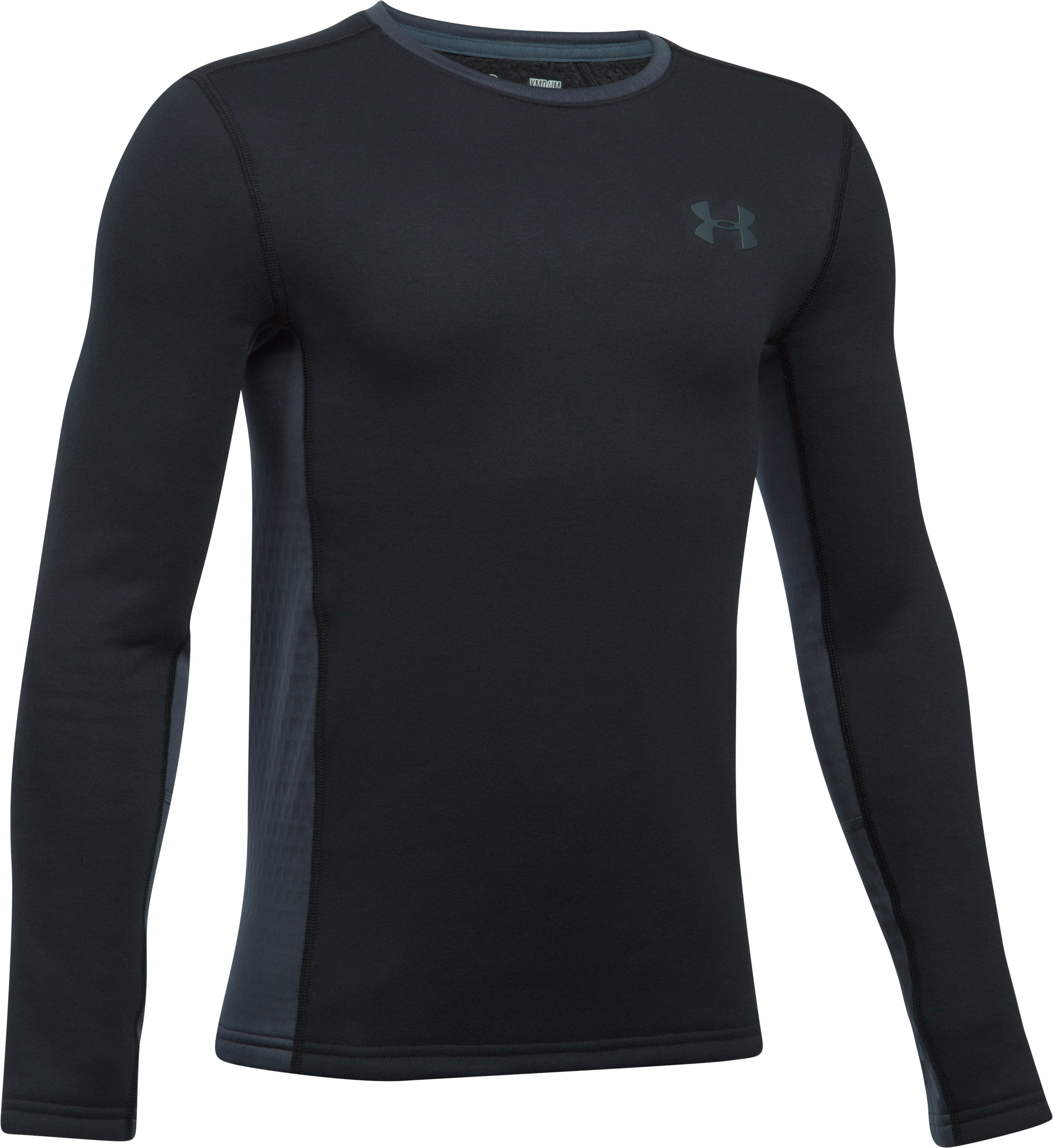 Boys' UA Base™ Extreme Long Sleeve, Black , undefined