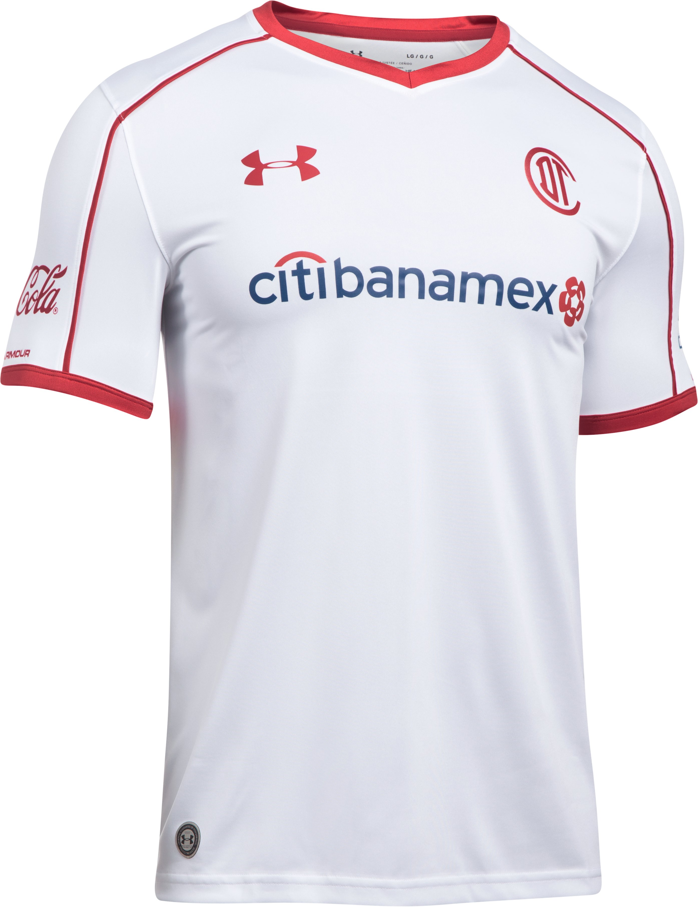 Men's Toluca Replica Home/Away Jersey, White, undefined