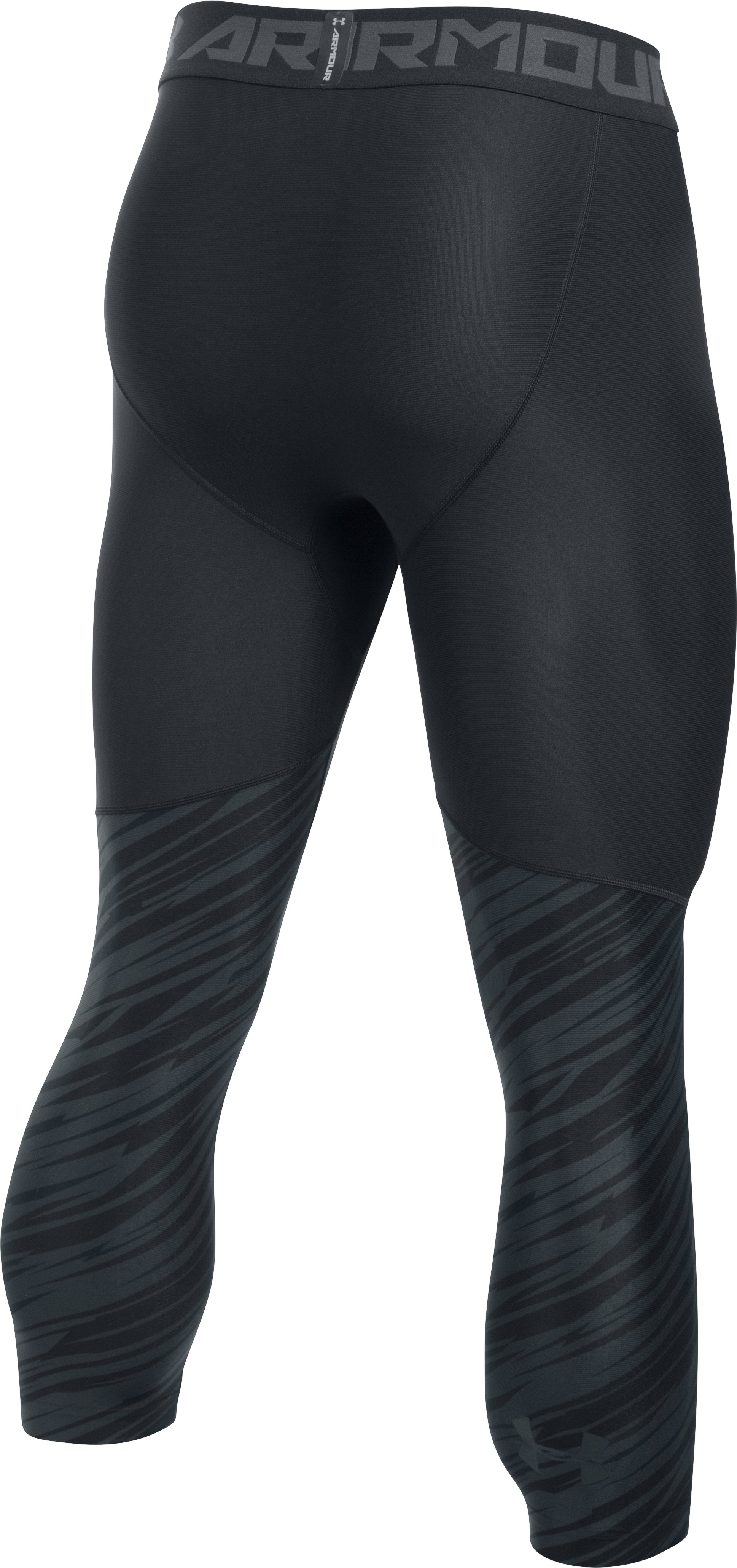 Men's HeatGear® Armour Football Printed ¾ Leggings, Black ,