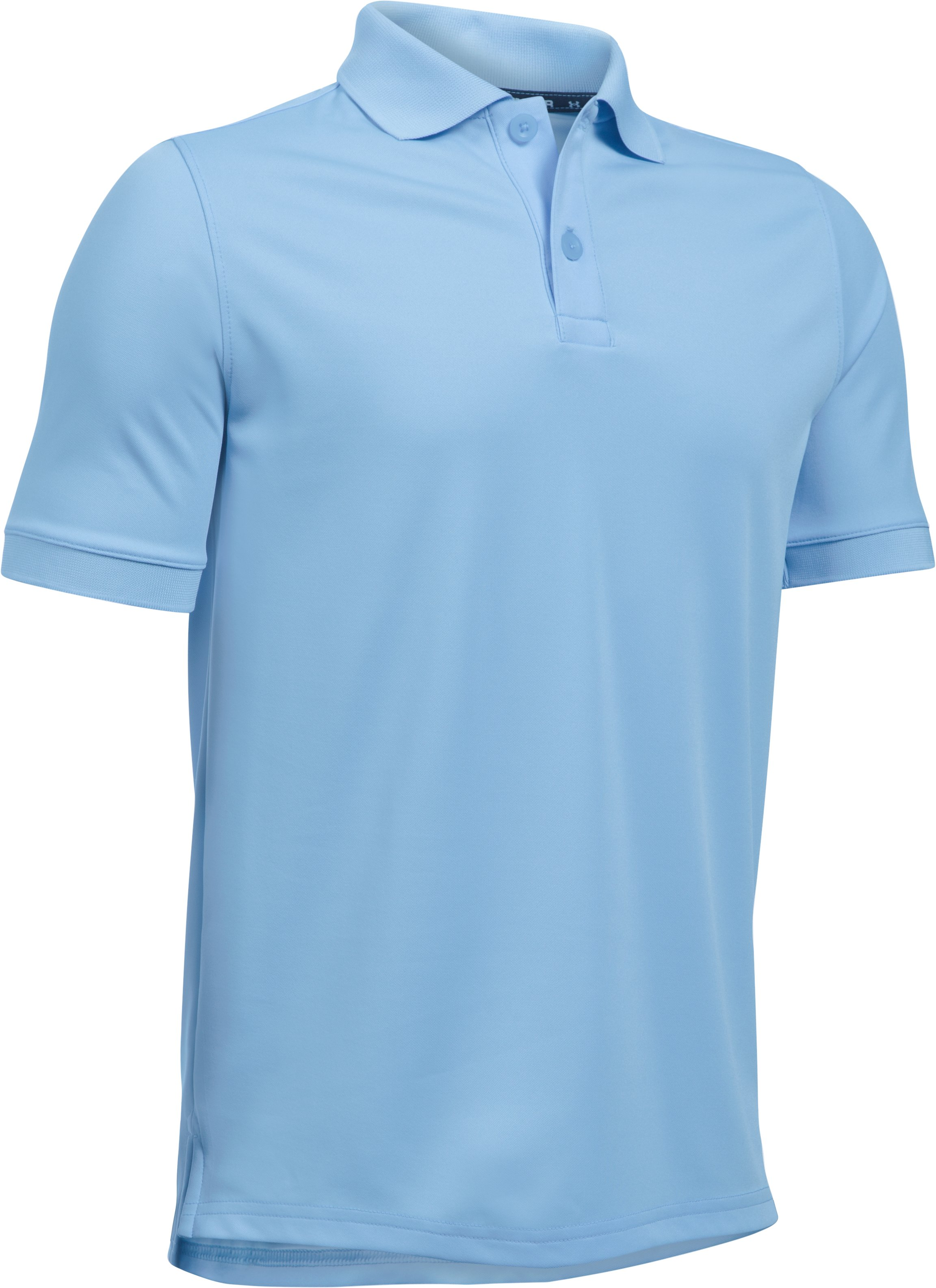Boys UA Uniform Short Sleeve Polo, Jetstream, undefined