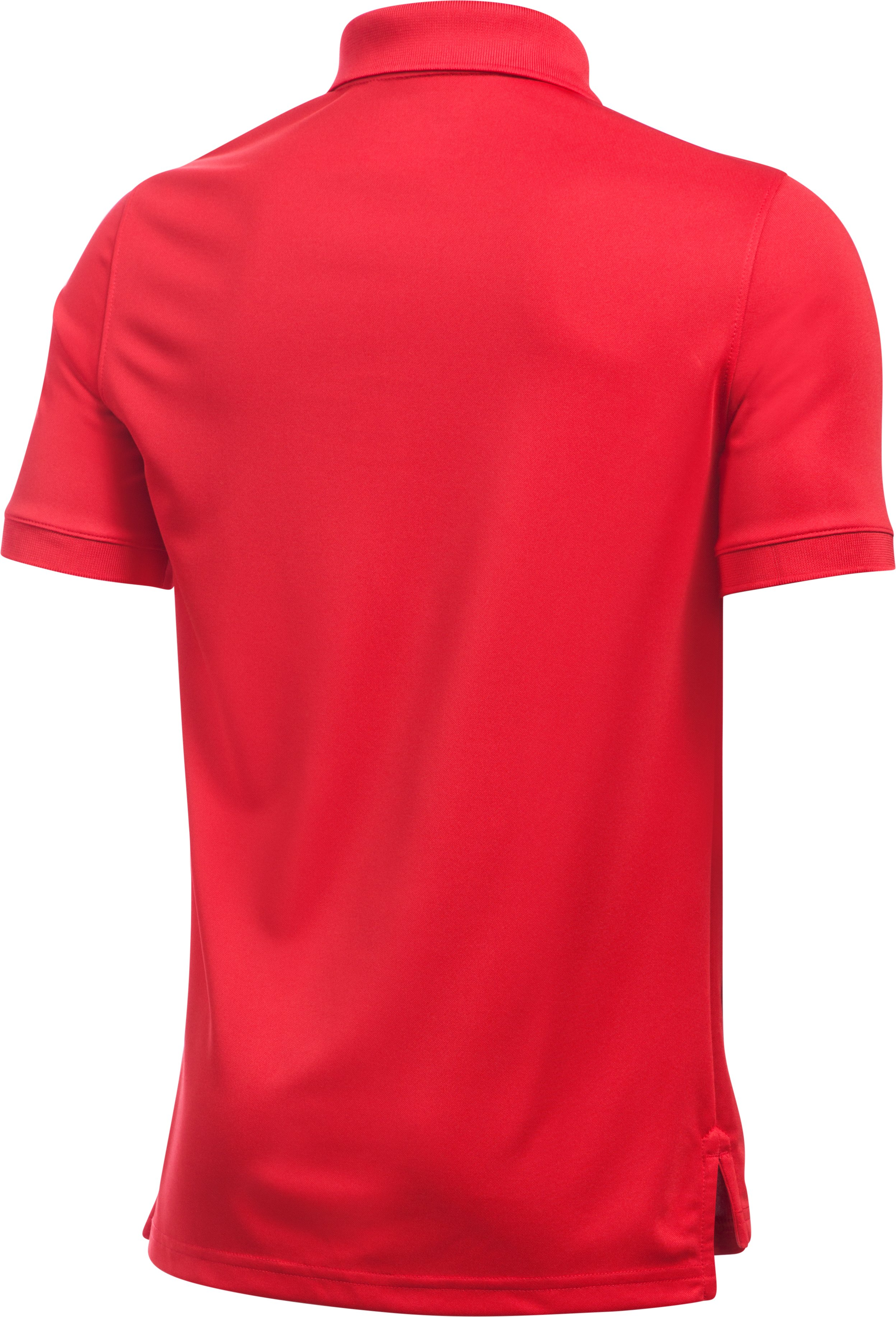 Boys UA Uniform Short Sleeve Polo, Red,