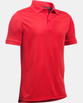 Boys UA Uniform Short Sleeve Polo LIMITED TIME: FREE U.S. SHIPPING 4  Colors Available $29.99