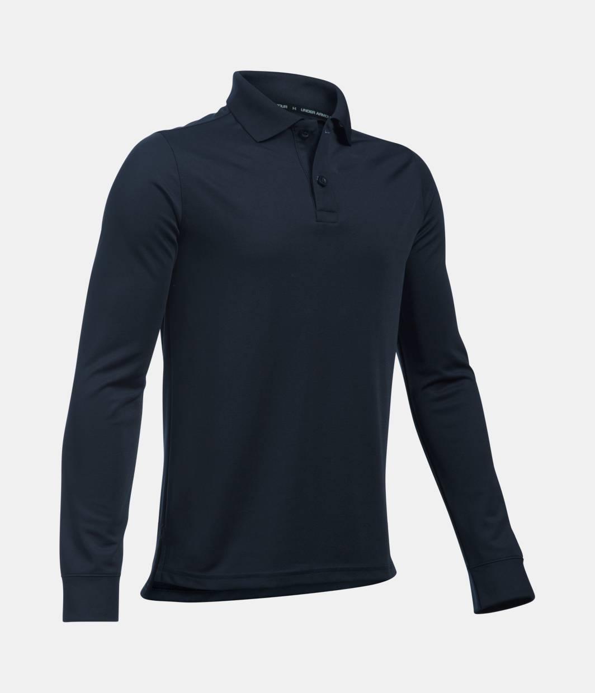 Boys 39 pre school ua uniform long sleeve polo under armour us for No tuck golf shirts