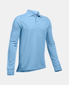 52d13fac9bd4 Boys' Pre-School UA Uniform Long Sleeve Polo 3 Colors Available $31.99