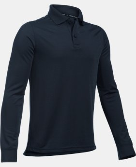 Boys' UA Uniform Long Sleeve Polo LIMITED TIME: FREE SHIPPING 2 Colors $34.99