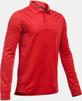 Boys' UA Uniform Long Sleeve Polo LIMITED TIME: FREE SHIPPING 1 Color $34.99