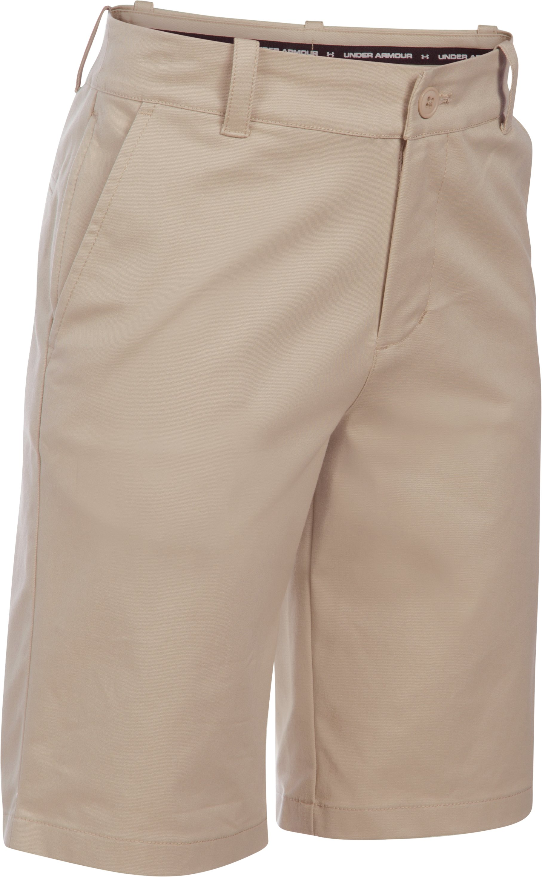 Boys' UA Uniform Chino Shorts – Pre-School, Desert Sand, zoomed image