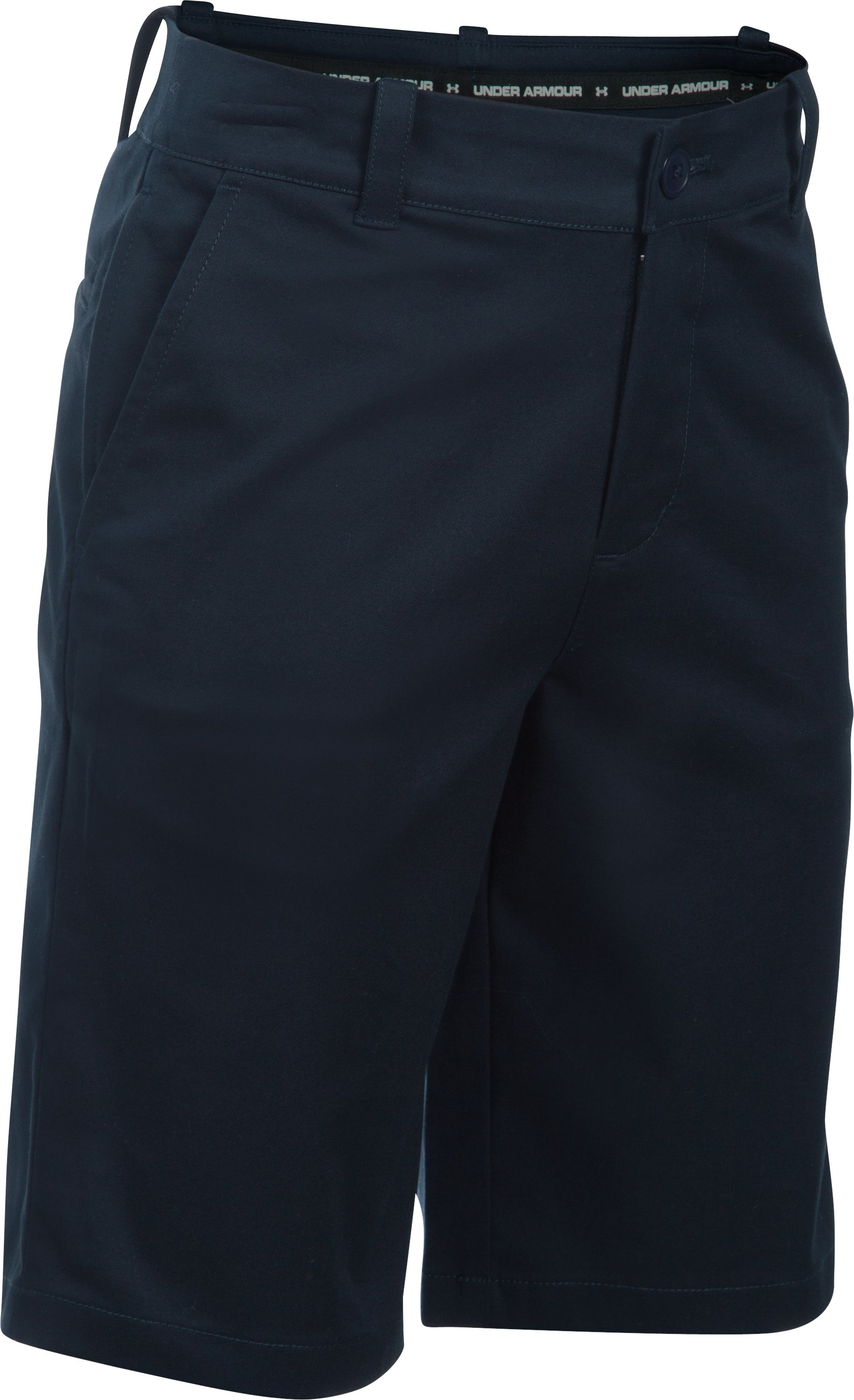 Boys UA Uniform Chino Shorts, GLORY BLUE, zoomed image