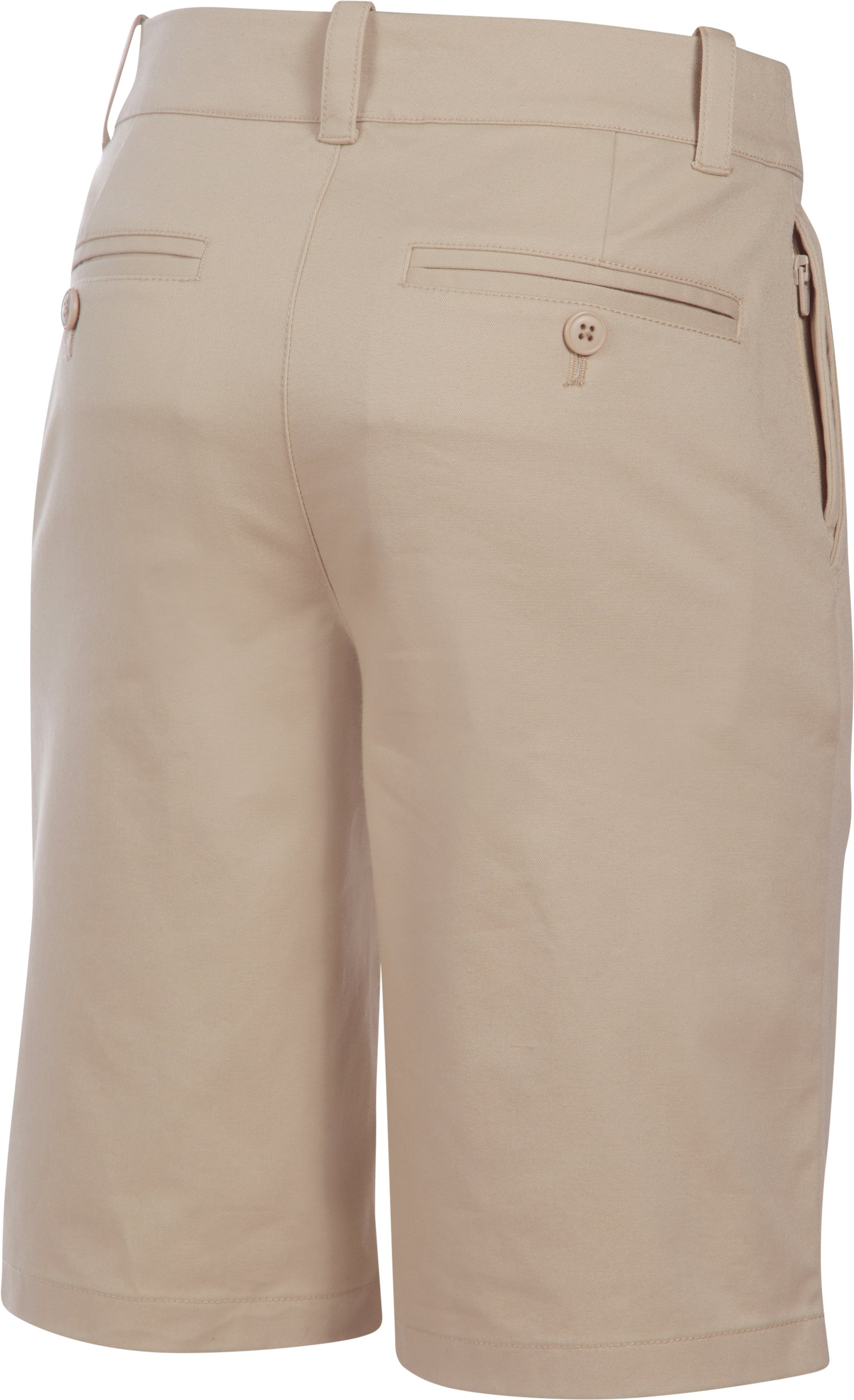 Boys' UA Uniform Chino Shorts – Husky, Desert Sand, undefined