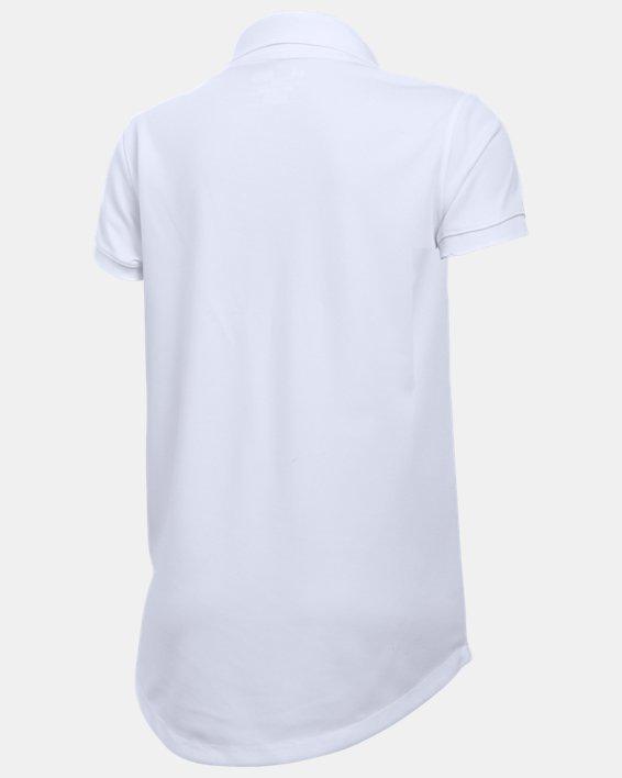 Girls' UA Uniform Short Sleeve Polo - Pre-School, White, pdpMainDesktop image number 1