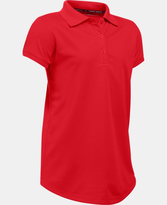 Girls' UA Uniform Short Sleeve Polo LIMITED TIME: FREE U.S. SHIPPING 1 Color $29.99