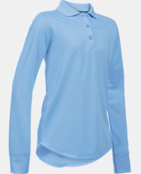 Girls' Pre-School UA Uniform Long Sleeve Polo  2 Colors $31.99