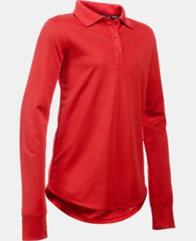 Girls' Pre-School UA Uniform Long Sleeve Polo  1 Color $31.99