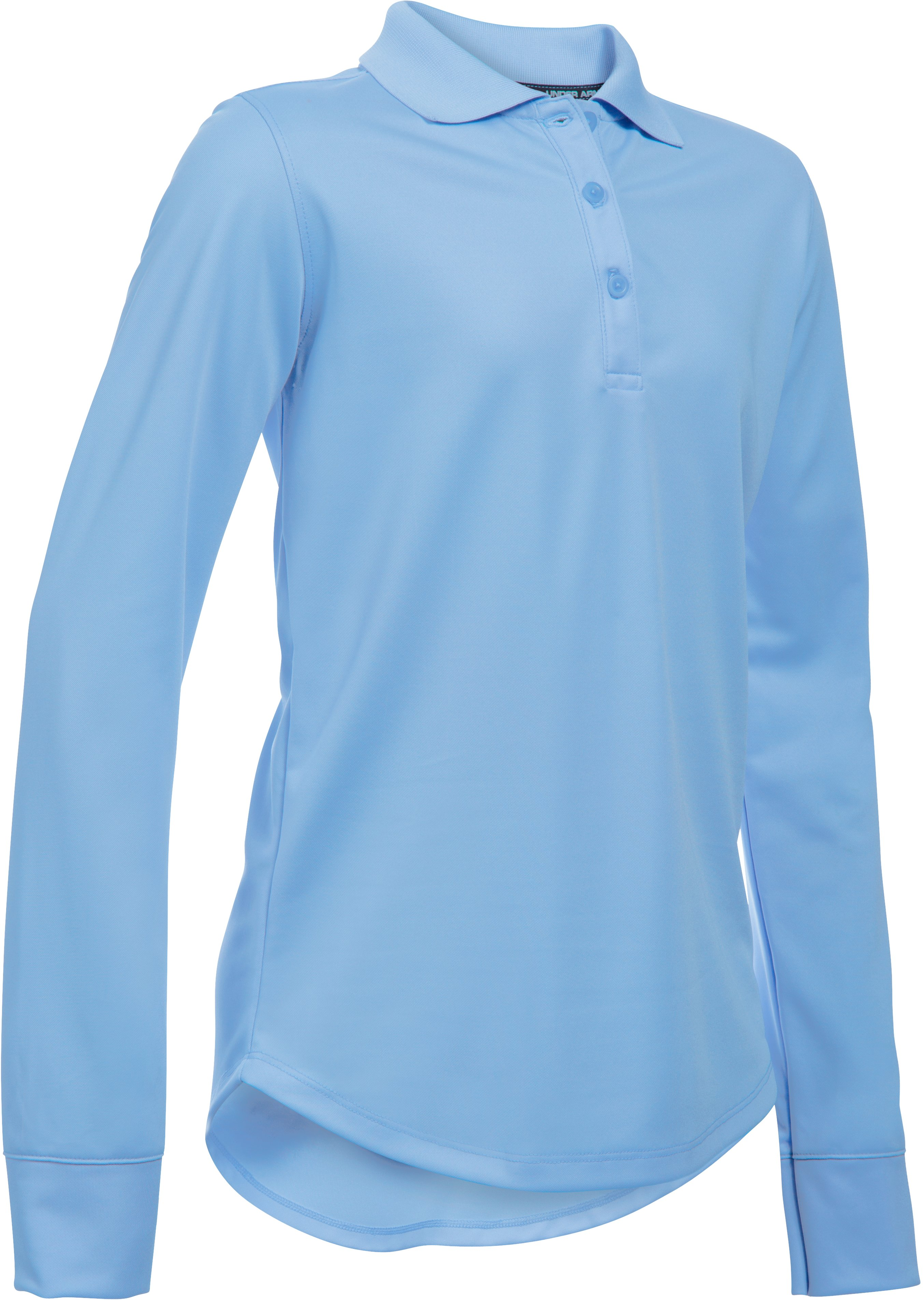 Girls' UA Uniform Long Sleeve Polo, Jetstream,
