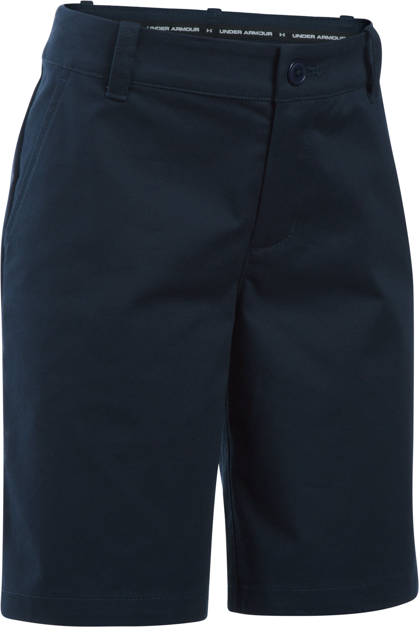 Girls' UA Uniform Chino Shorts, GLORY BLUE, zoomed image