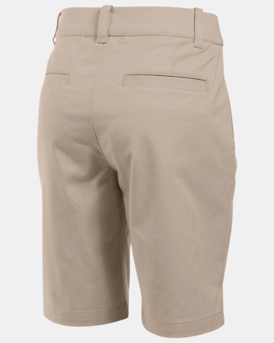 Girls' UA Uniform Chino Shorts, Brown, pdpMainDesktop image number 1
