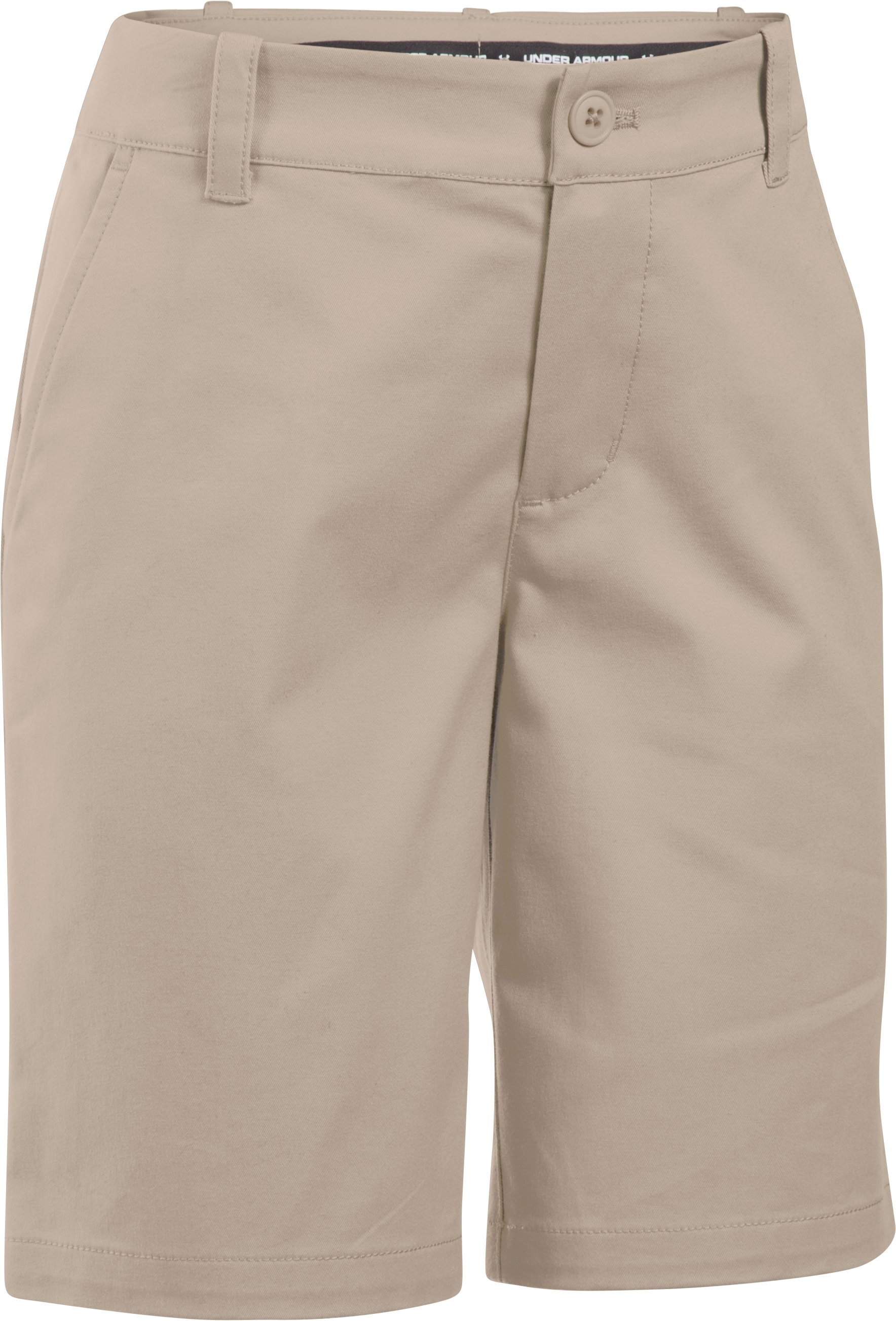 Girls' UA Uniform Chino Shorts, Desert Sand, undefined