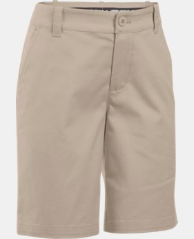 Girls' UA Uniform Chino Shorts  1  Color Available $39.99