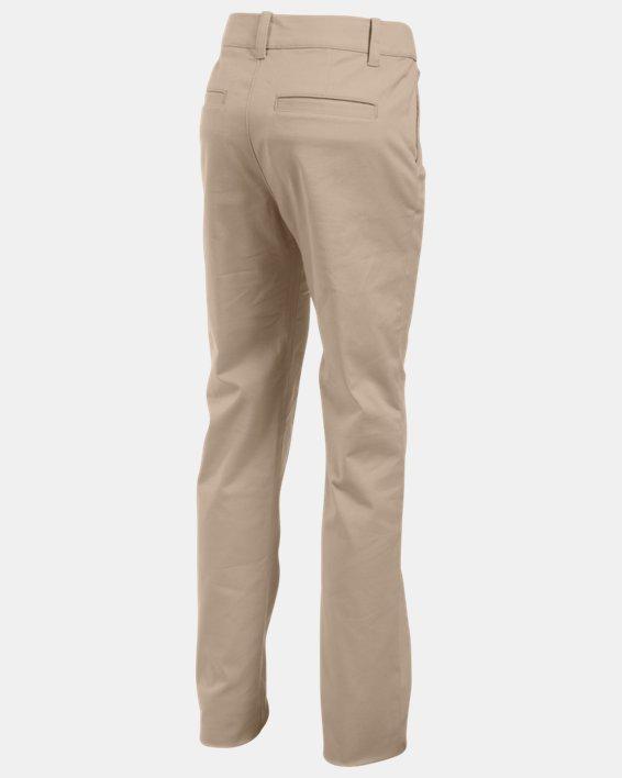 Girls' UA Uniform Chino Pants - Pre-School, Brown, pdpMainDesktop image number 1
