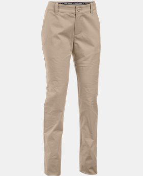 Girls' UA Uniform Chino Pants – Pre-School  1  Color Available $66.99