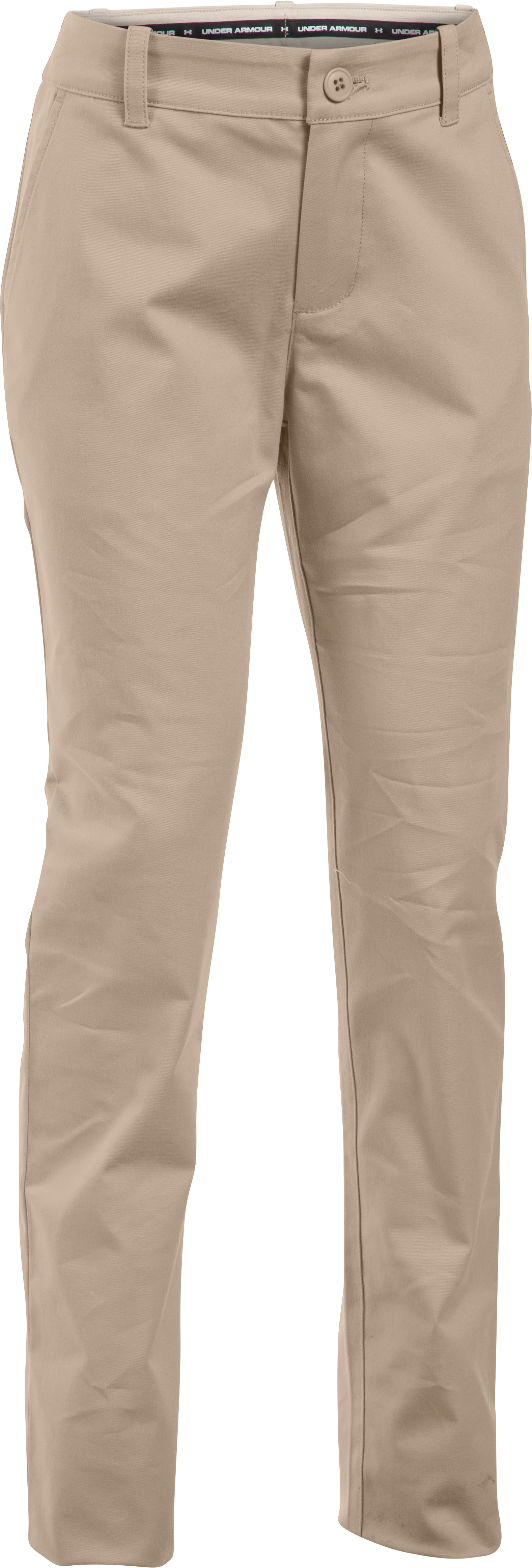 Girls' UA Uniform Chino Pants, Desert Sand, undefined
